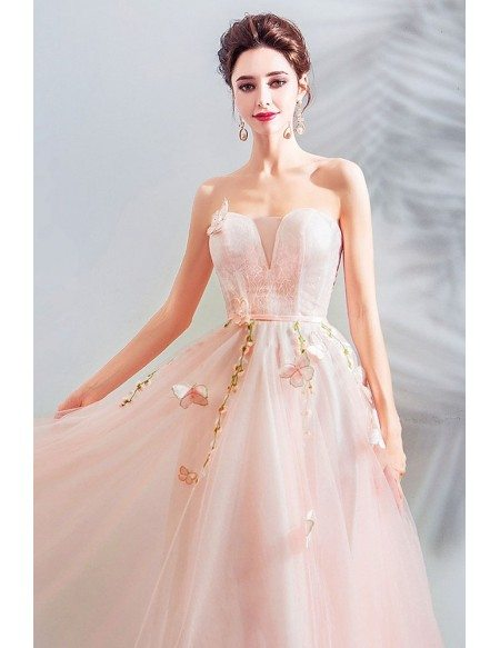 Fairy Butterfly Tulle Tea Length Party Dress Off Shoulder