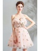 Super Cute Fairy Pink Short Tulle Prom Dress With Straps
