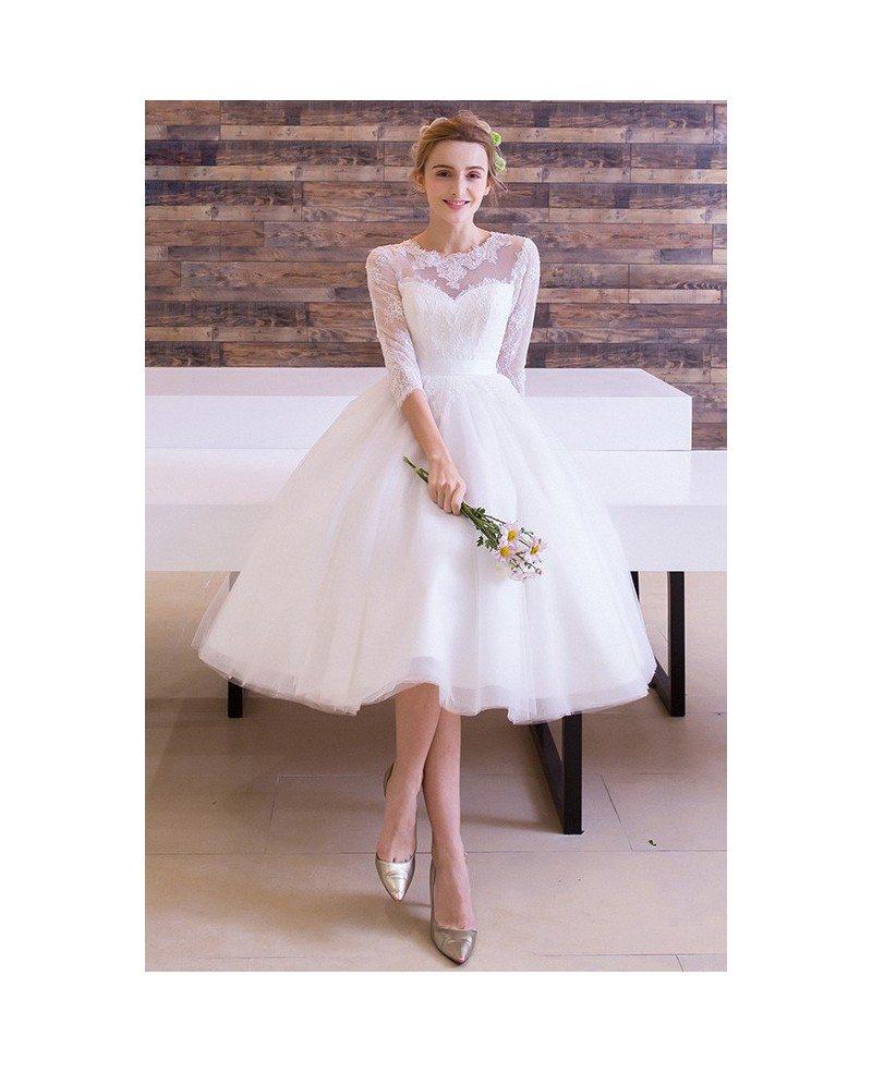 vintage tea length wedding dresses off 18   medpharmres.com
