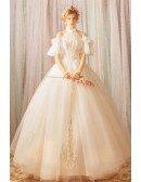 Stunning Fairy White Princess Ball Gown Wedding Dress Halter