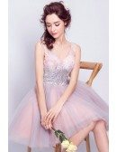 Super Cute Bling Sequins Short Tulle Party Dress Sleeveless