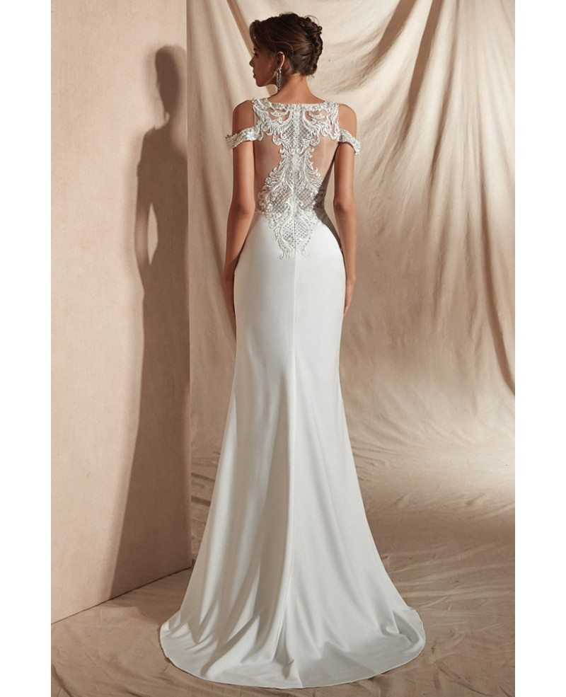 Risque Wedding Dress Photos: Sexy Tight Lace Beaded Informal Bridal Dress For 2019