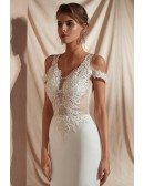 Sexy Tight Lace Beaded Informal Bridal Dress For 2019 Outdoor Wedding