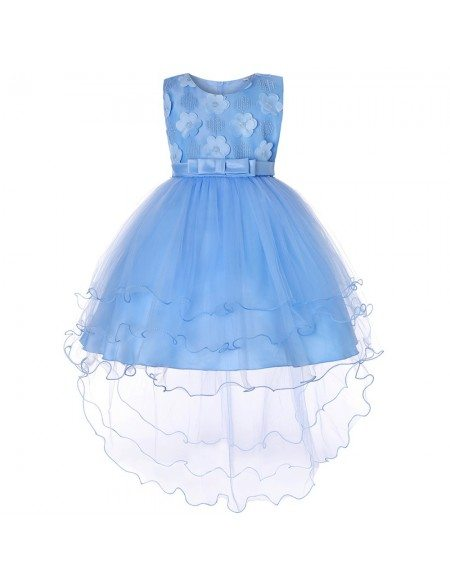 High Low Pastel Tulle Flower Girl Dress For Toddlers