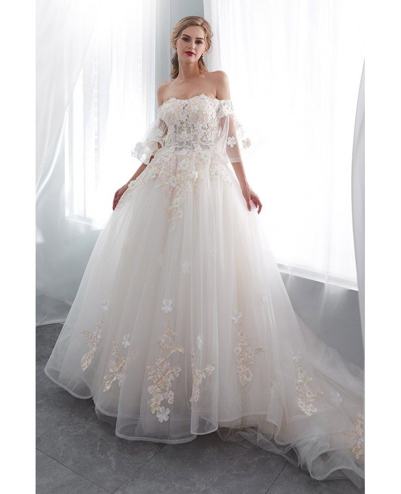 Romantic Wedding Dresses With Sleeves 53 Off Plykart Com