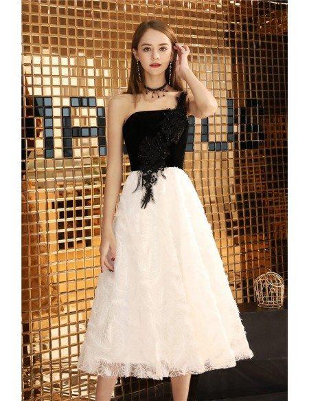 elegant party black and white dress