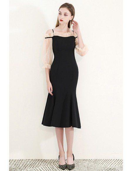 Elegant Mermaid Knee Length Party Dress With Off Shoulder
