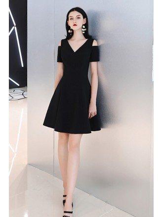 Little Black Chic V-neck Semi Party Dress Casual
