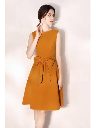 Sleeveless Aline Bow Knot Short Party Dress