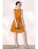 Sleeveless Aline Bow Knot Short Party Dress