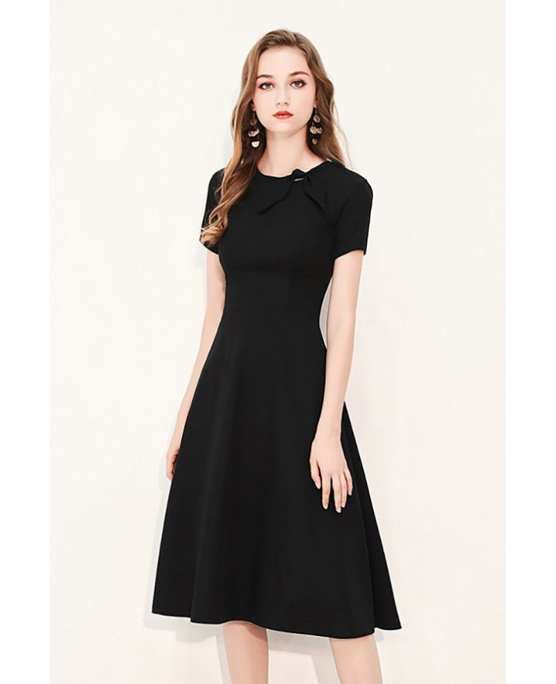 Knee Length Black Dresses