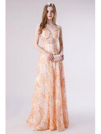 2020 Unique Lace Long A Line Formal Prom Dress