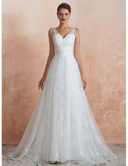 Inexpensive Simple All Lace Beach Bridal Dress For 2020 Destination Wedding