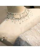 Sparkly Silver Sequins Bling Prom Dress With Illusion High Neck
