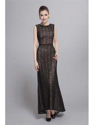 Elegant A-Line Black Lace Mother of the Bride Dress