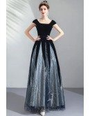 Special Navy Blue Two Colors Pageant Gown Modest Cap Sleeves