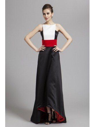 Edgy Asymmetrical Satin Evening Dress
