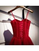 Simple Corset Top Tulle Party Dress With Spaghetti Straps