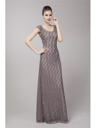 Elegant High Waist Lace Long Evening Dress With Cape Sleeves
