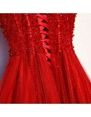 Long Aline Tulle Formal Dress With Bling Sequins