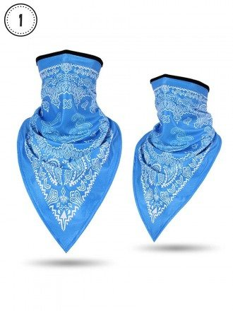 Fashion Face Covering Mask With Pattern Neck Gaiter Scarf For Women