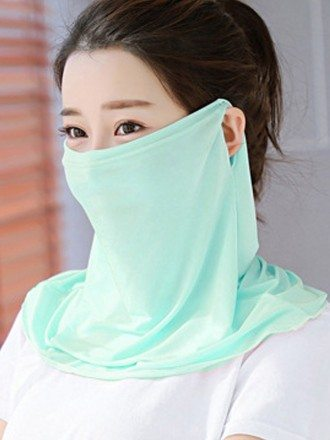 UV Protection Breathable Elastic Neck Gaiter Cloth Face Mask For Women