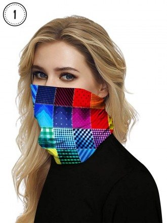 Seamless Face Covering Mask For Running Neck Gaiter Scarf Washable