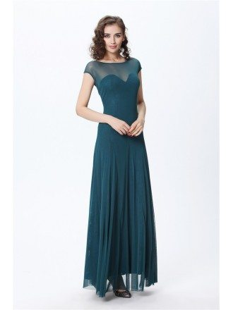 Elegant A-LineTulle Lace Long Evening Dress With Ruffle