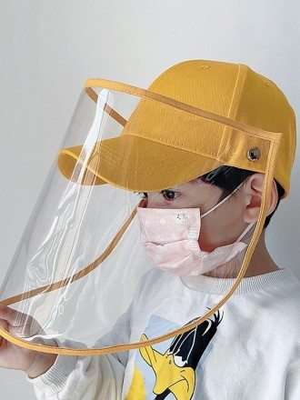 Anti-fog Removable Face Shield Hat For Children For Sale