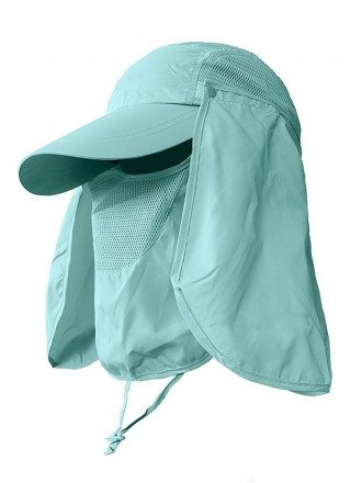Summer UV Protection Outdoor Full Face Shield Hat Cloth Washable