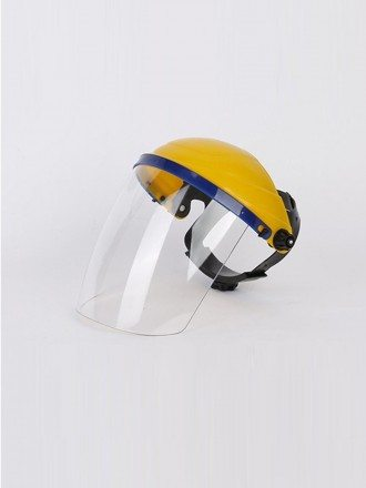 Lightweight Adjustable Plastic Face Shield Hat With Colored Plastic Shield