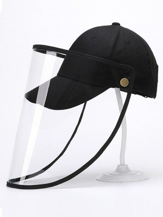 Detachable Adjustable Hat With Plastic Face Shield Outdoor Baseball Hat