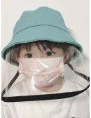 Kids Anti-Spitting Hat With Plastic Shield Face Shield Full Hat For Children