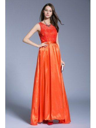 Elegant A-Line Chiffon Lace Dress With Open Back