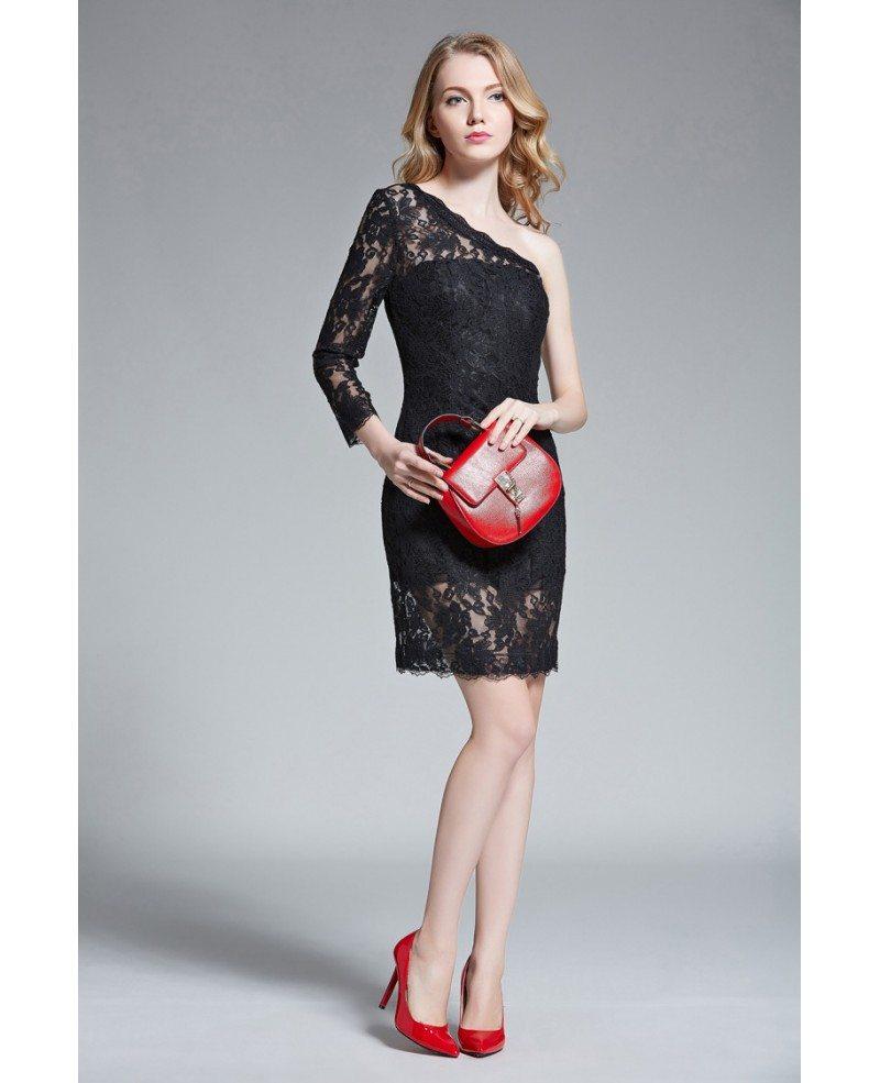 Chic Sheath One Shoulder Lace Short Wedding Guest Dress Kc88 467 Gemgracecom