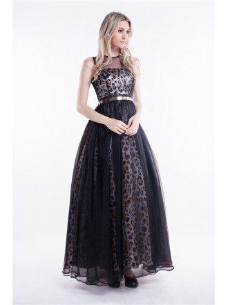 Chic Ball-Gown Chiffon Leopard Print Wedding Guest Dress