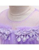 Rustic Purple Short Lace Childre Party Dress For Girls 4-12