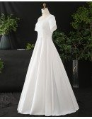 Custom Ivory Modest Square Neck Wedding Dress Plus Size High Quality