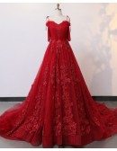 Custom Luxe Lace Formal Long Train Prom Dress Wedding Dress High Quality