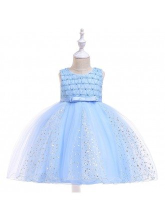 Sparkly Stars Bling Party Dress For Girls 4-5-6t