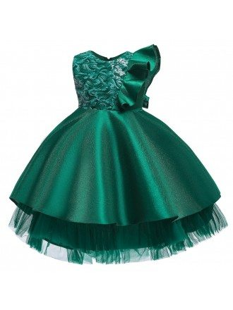Unique Blue Ballgown Girls Party Dress With Sequins 3-12 Years