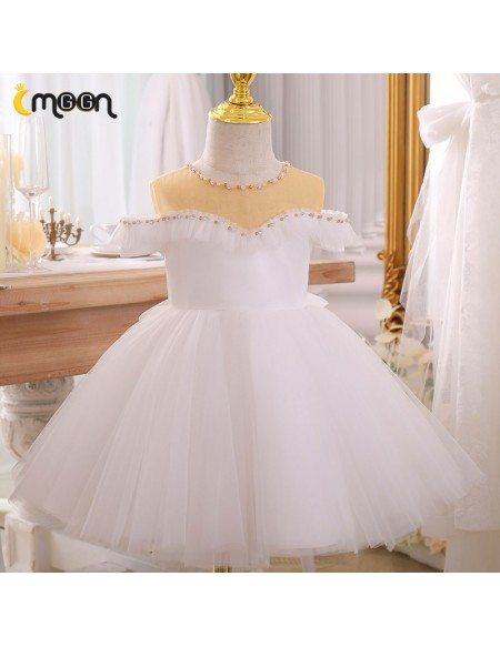 Super Cute Beaded Sweetheart Tulle Birthday Party Dress For Little Girls