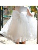Beautiful Lace Tulle With Satin Flower Girl Dress With Jacket