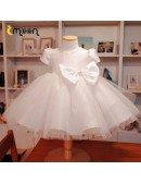 Baby Girls Super Cute Ballgown Tulle Formal Dress With Bubble Sleeves