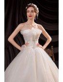Strapless Ballgown Wedding Dress Organza with Ruffles