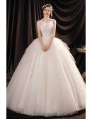 Beautiful Tulle Ballgown Wedding Dress Princess with Straps