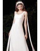 Simple Sweetheart Natural Waist Goddess Wedding Dress
