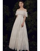Strapless Casual Lace Hobo Wedding Dress Aline with Laceup