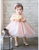 High-end Pink Tutu Flower Girl Dress Toddler Girls Pageant Gown