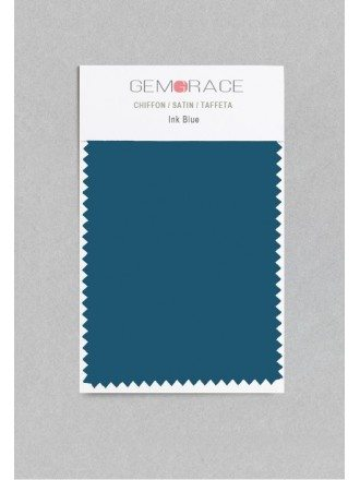 Ink Blue Color in Satin Fabric